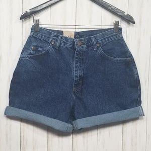 Vintage Lee high-rise mom shorts